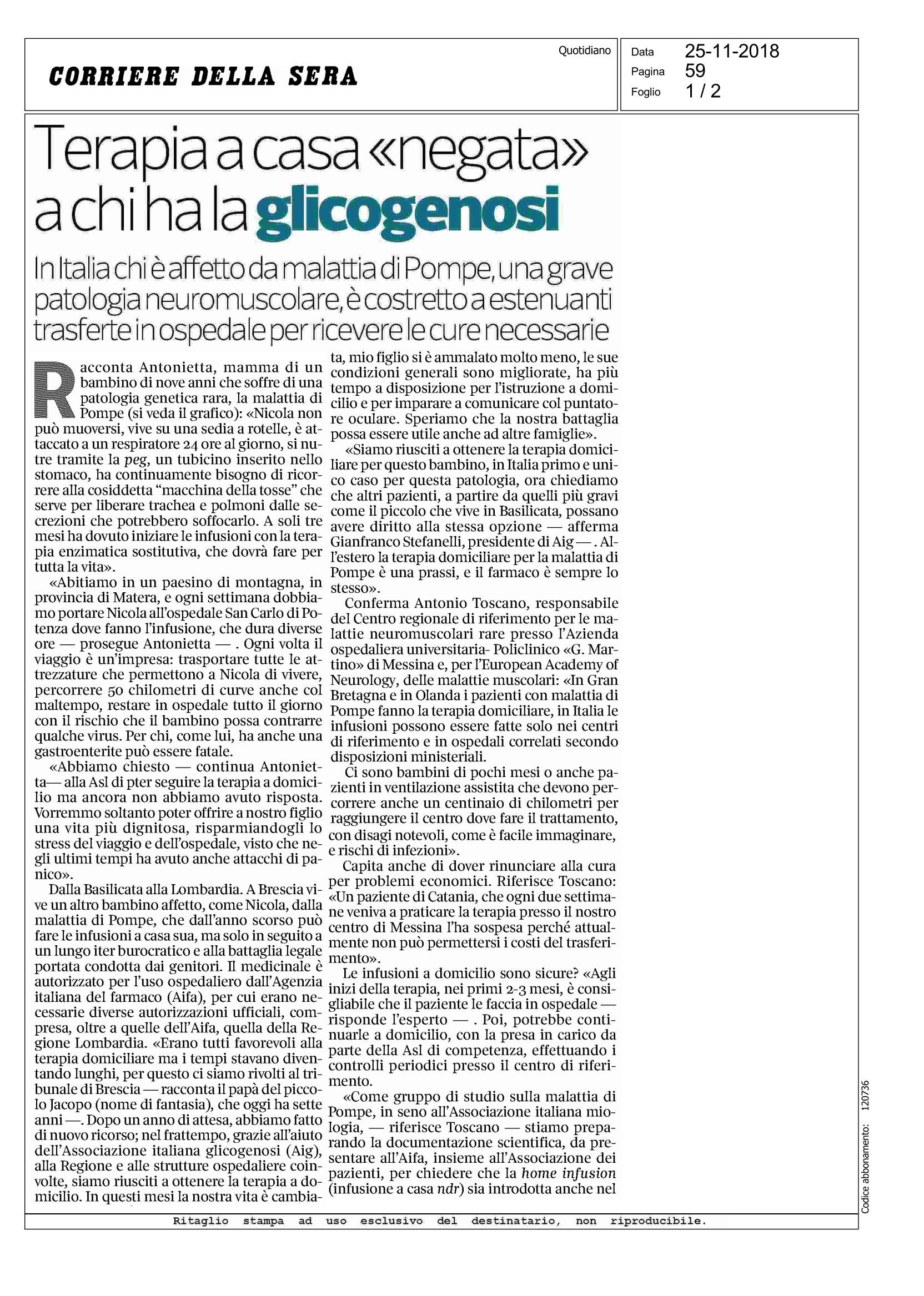 Stampa_20181125_Corriere_della_Sera_Page_1
