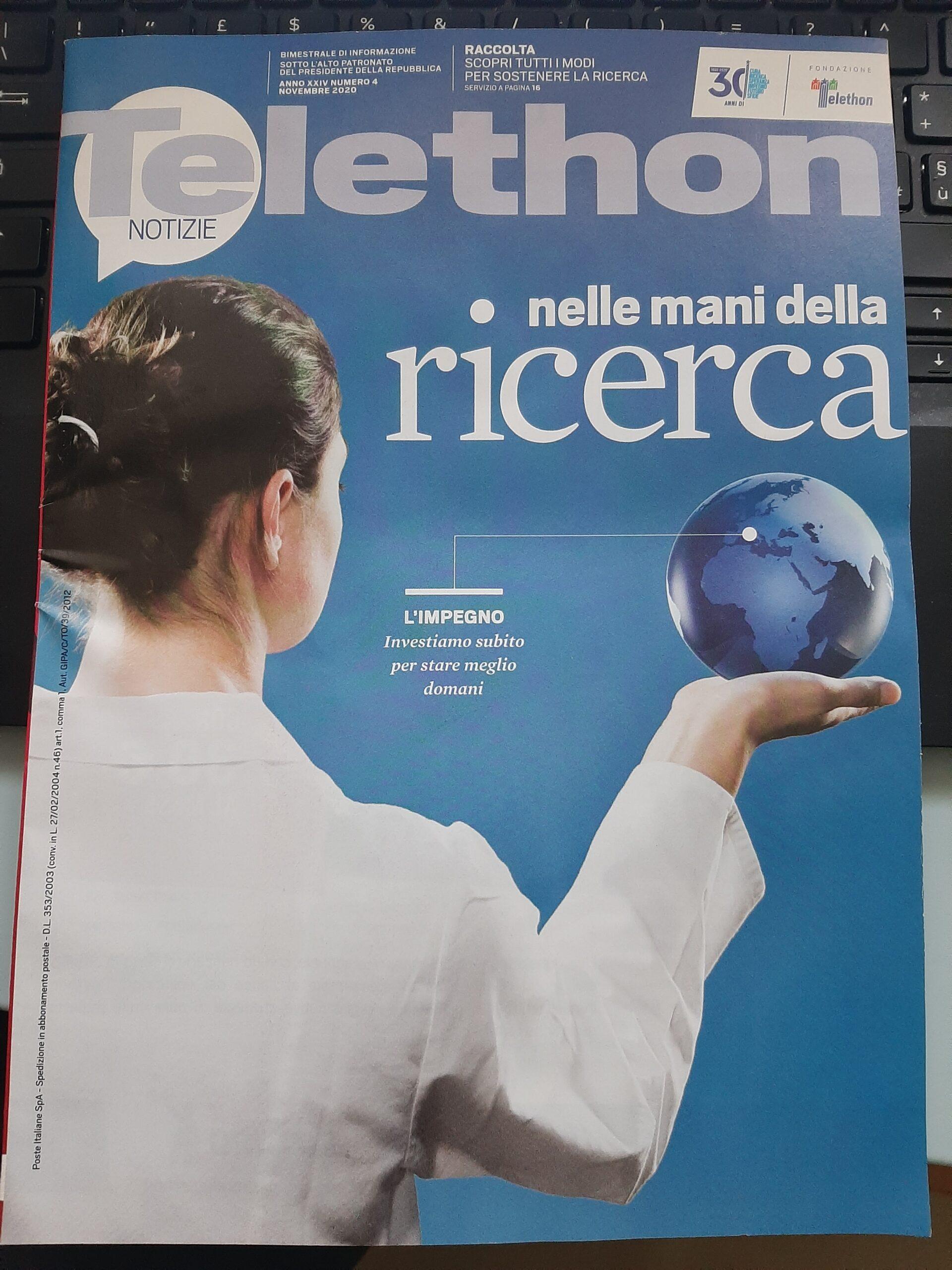 copertina Telethon Notizie IV 2020